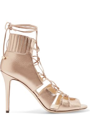 JIMMY CHOO Myrtle metallic leather sandals
