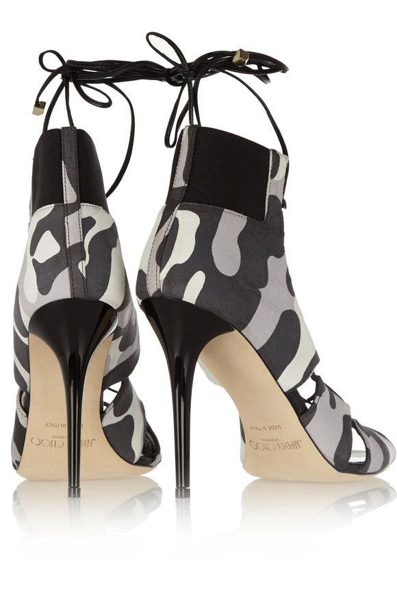 Myrtle camouflage-print nubuck sandals | JIMMY CHOO | Sale up to 70% off |  THE OUTNET