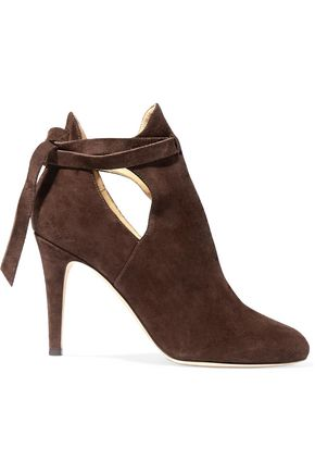 JIMMY CHOO Marina cutout suede ankle boots