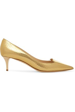 JIMMY CHOO Allure textured-leather pumps