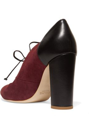 MALONE SOULIERS Majorie suede and leather pumps