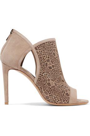 SALVATORE FERRAGAMO Gayle laser-cut suede sandals