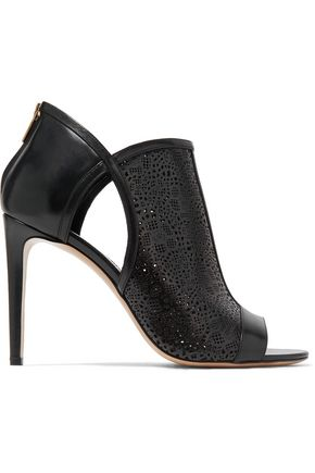 SALVATORE FERRAGAMO Gayle cutout laser-cut and smooth leather sandals