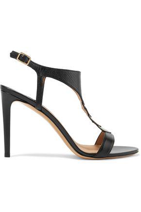 SALVATORE FERRAGAMO Snake-effect leather sandals