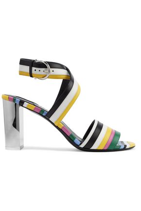 SALVATORE FERRAGAMO Gilli striped leather sandals