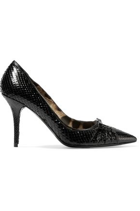 DOLCE & GABBANA Snake-effect leather pumps