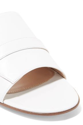 GIANVITO ROSSI Buckled leather slides