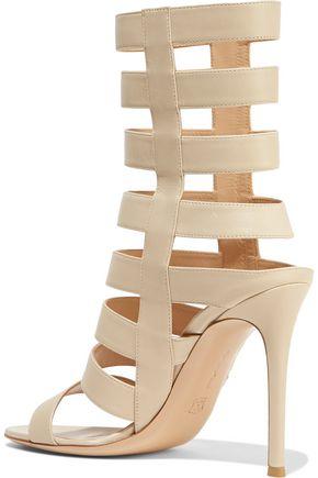 GIANVITO ROSSI Cutout leather sandals