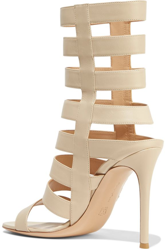 Cutout leather sandals | GIANVITO ROSSI | Sale up to 70% off | THE OUTNET