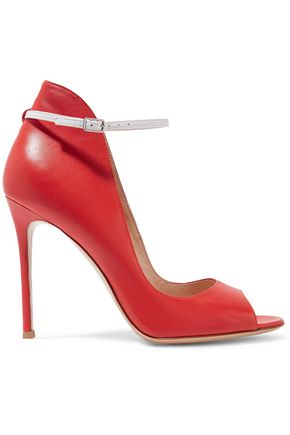 GIANVITO ROSSI Two-tone leather pumps