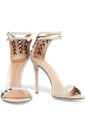 GIANVITO ROSSI Stitched leather sandals