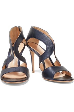 GIANVITO ROSSI Cutout textured leather sandals