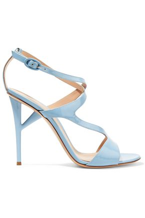 GIANVITO ROSSI Cutout patent-leather sandals