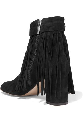 CAMILLA ELPHICK In Full Swing fringed suede ankle boots