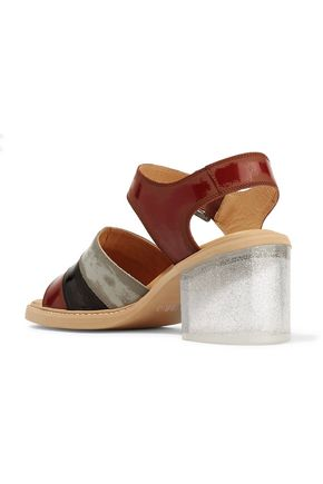 MM6 by MAISON MARGIELA Glossed-leather sandals