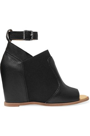 MM6 by MAISON MARGIELA Leather wedge sandals