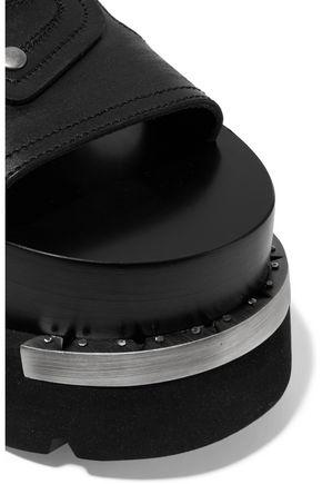 MM6 MAISON MARGIELA Embellished embroidered leather platform sandals