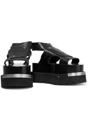 821dff51e75 ... MM6 MAISON MARGIELA Embellished embroidered leather platform sandals ...