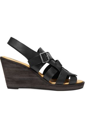 MM6 MAISON MARGIELA Leather wedge sandals