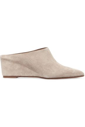 ATP ATELIER Irma suede wedge pumps