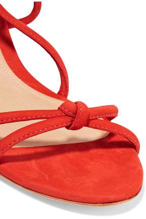 SCHUTZ Margarete lace-up suede wedge sandals