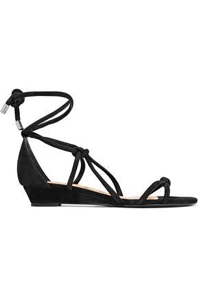 SCHUTZ Margarete knotted nubuck wedge sandals