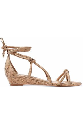 SCHUTZ Margarete knotted cork wedge sandals