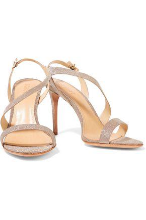 SCHUTZ Aleria glittered leather sandals