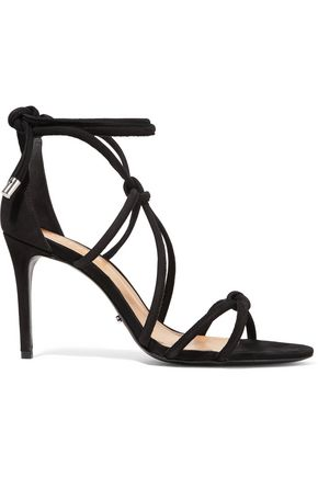 SCHUTZ Nadira lace-up suede sandals