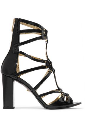 JUST CAVALLI Embellished patent-leather sandals