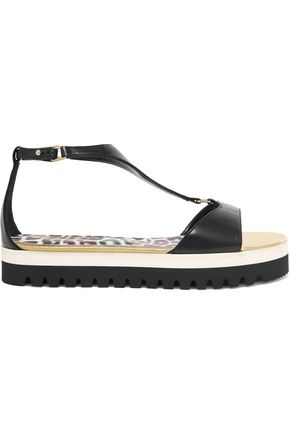 JUST CAVALLI Leather platform  sandals
