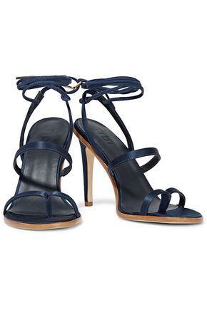 TIBI Amber lace-up satin sandals