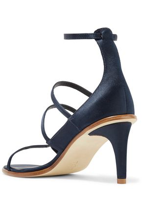 TIBI Isabel buckled satin sandals