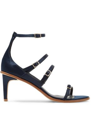 TIBI Isabel buckled satin sandals