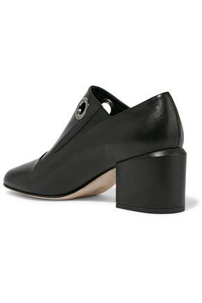 TIBI Marlow eyelet-embellished leather ankle boots