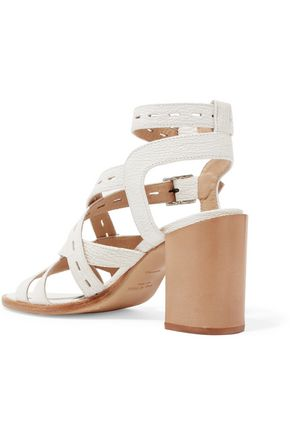 RAG & BONE Leith perforated textured-leather sandals