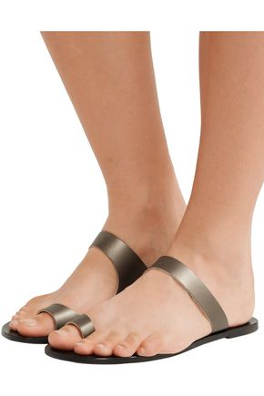 ATP ATELIER ALL TOMORROW'S PARTIES Dina cutout metallic leather sandals