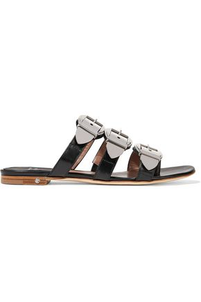 LAURENCE DACADE Natalia buckled leather slides