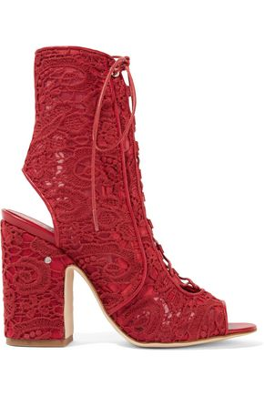 LAURENCE DACADE Nelly leather-trimmed lace sandals