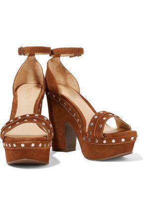 SCHUTZ Torah studded suede platform sandals
