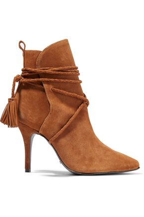 SCHUTZ Fadhila tasseled suede ankle boots