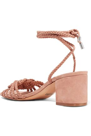 SCHUTZ Marlie braided suede sandals