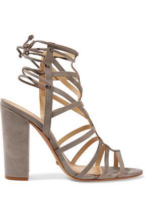 SCHUTZ Loriana cutout suede wedge sandals