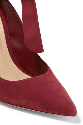 SCHUTZ Delza lace-up suede pumps