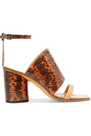 MAISON MARGIELA Snake-effect leather sandals