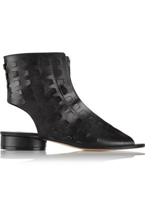MAISON MARGIELA Cutout faux leather ankle boots