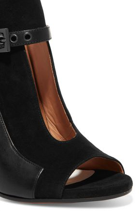 MAISON MARGIELA Cutout leather and suede boots
