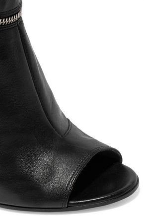 MAISON MARGIELA Zip-embellished leather ankle boots