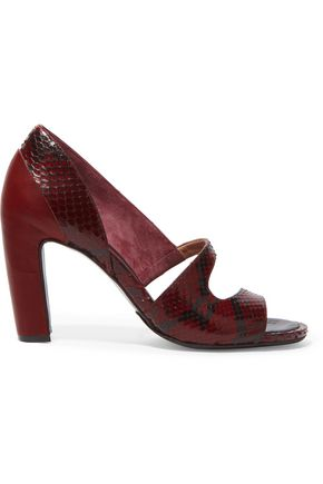 MAISON MARGIELA Leather and python sandals