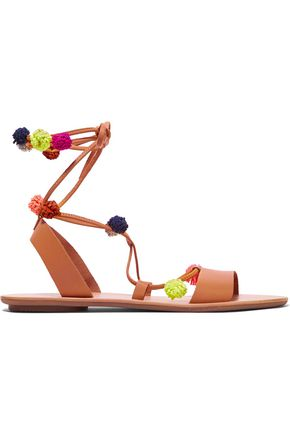 LOEFFLER RANDALL Pompom-embellished leather sandals